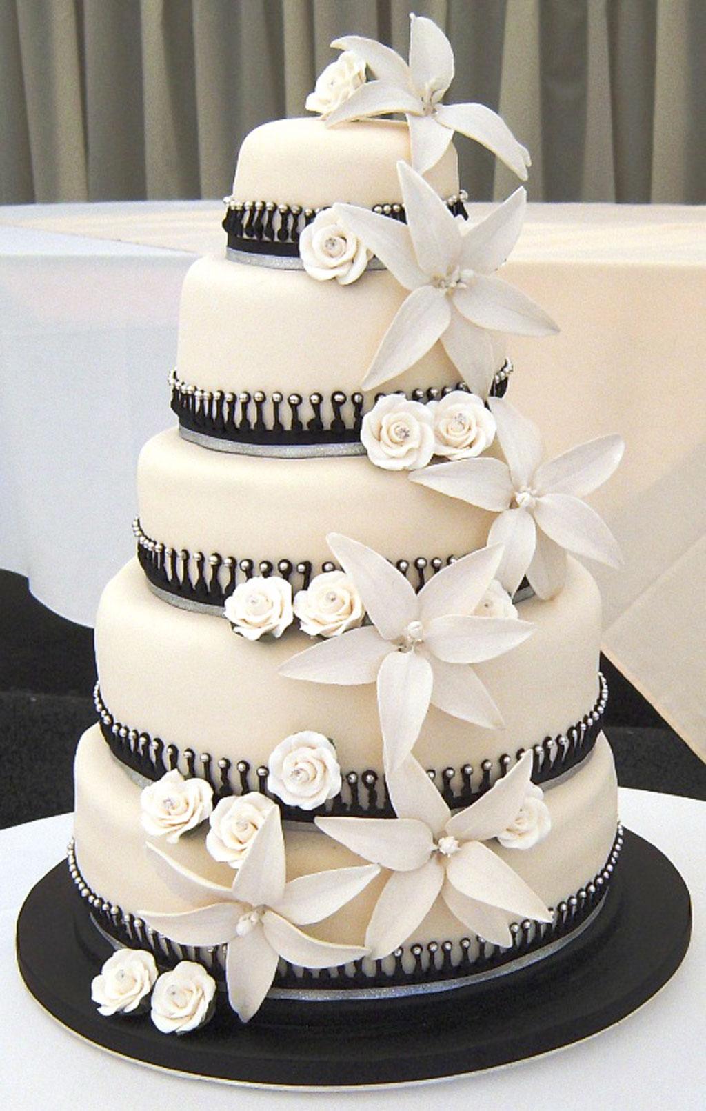 Black And White Wedding Cakes Wedding Cake - Cake Ideas by Prayface.net