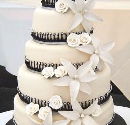 1024x1611px Black White Wedding Cake Designs Picture in Wedding Cake