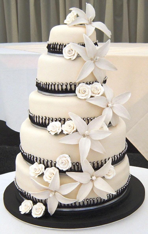 Black White Wedding Cake Designs Picture in Wedding Cake