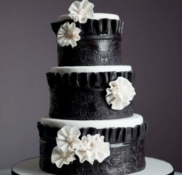 1024x1538px Black White Wedding Cake Decoration Picture in Wedding Cake