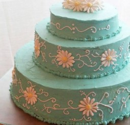 1024x1359px Blue Buttercream Icing For Wedding Cakes Picture in Wedding Cake