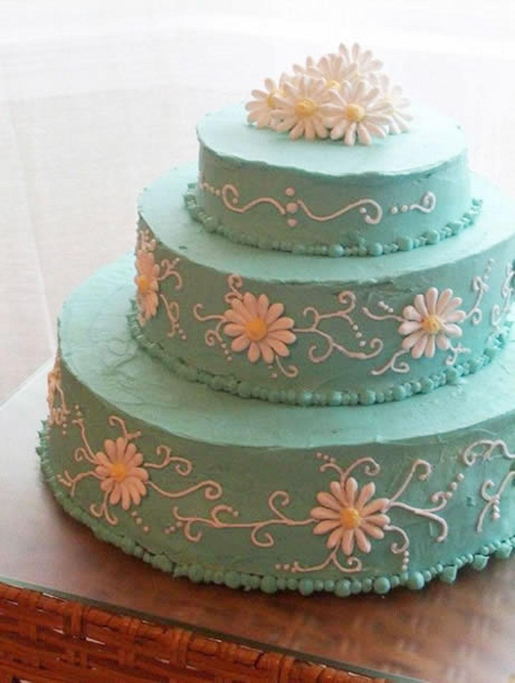 Blue Buttercream Icing For Wedding Cakes Wedding Cake