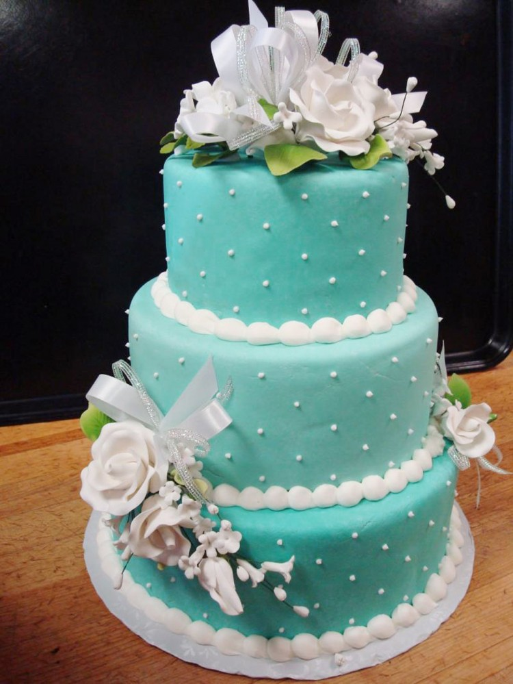 Blue Prettiest Wedding Cakes Picture in Wedding Cake