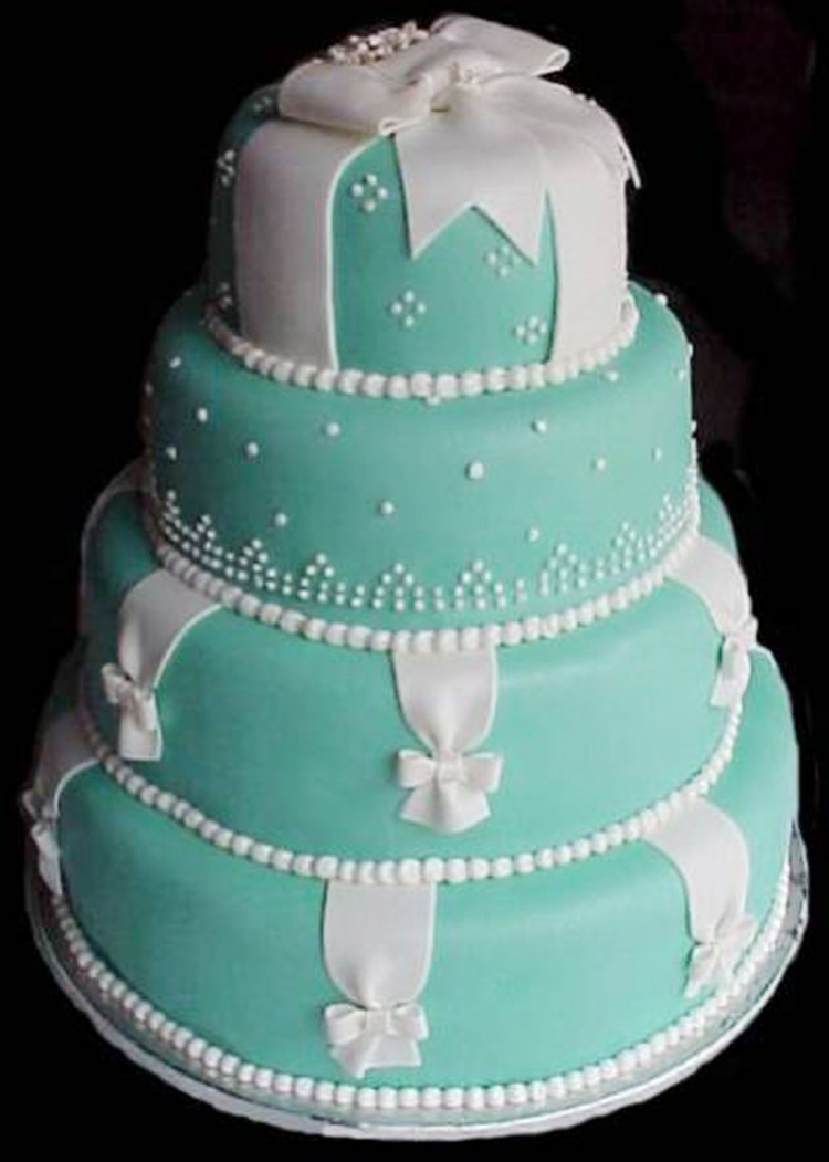 Blue Wedding Cakes Decor Picture in Wedding Cake