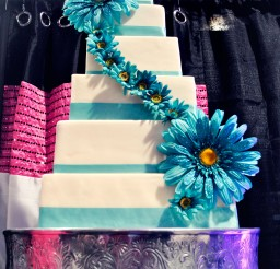 1024x1529px Blue White Wedding Cakes Raleigh Nc Picture in Wedding Cake