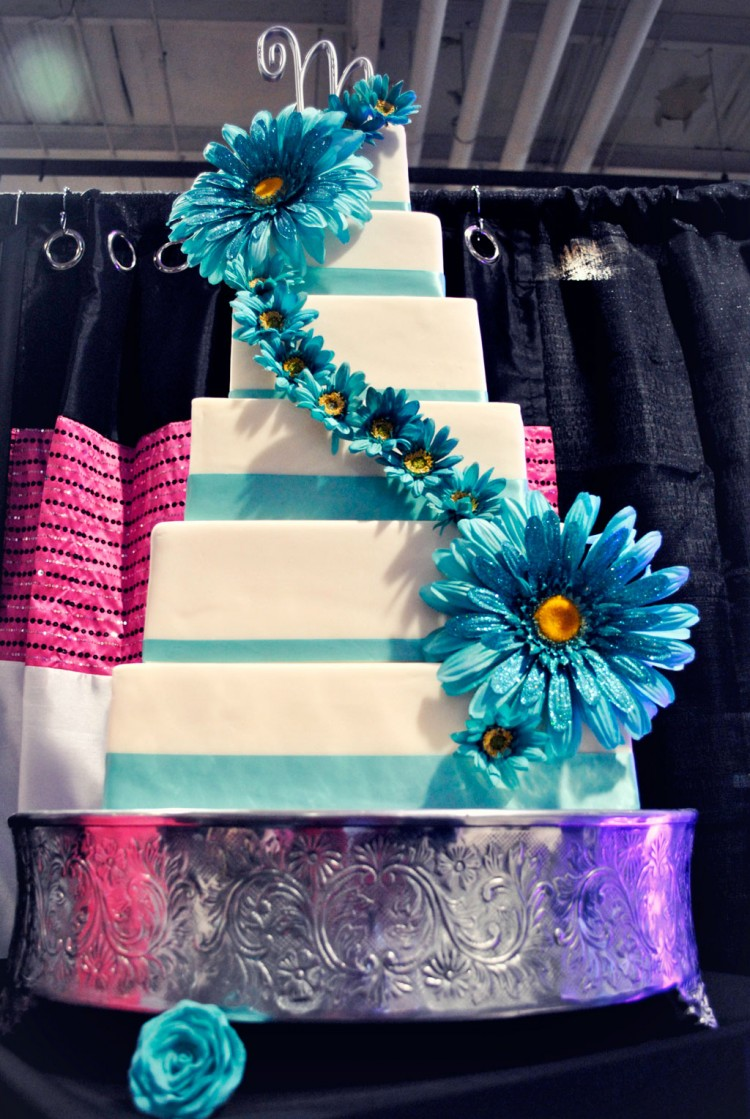 Blue White Wedding Cakes Raleigh Nc Picture in Wedding Cake