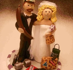 1024x1365px Bow Hunting Wedding Cake Toppers Picture in Wedding Cake