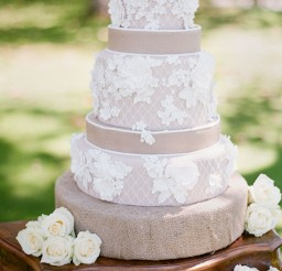 1024x1400px Burlap And Lace Wedding Cakes Picture in Wedding Cake