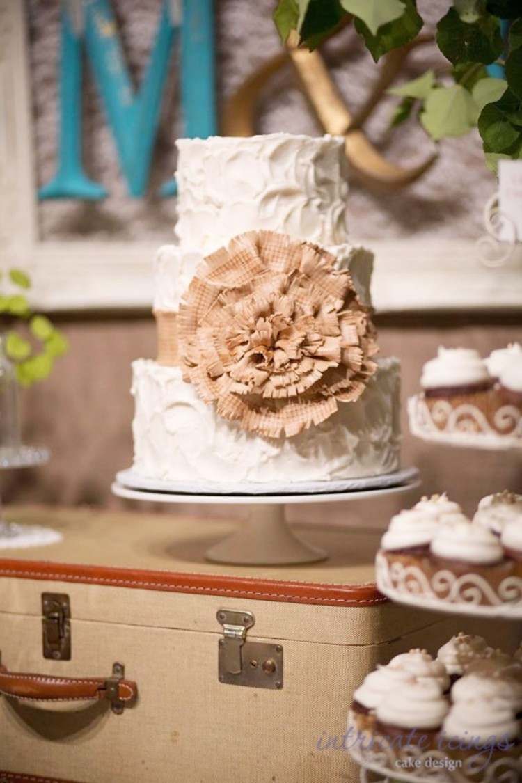 Burlap Wedding Cake Toppers Picture in Wedding Cake