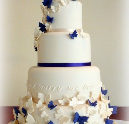 1024x1612px Butterfly Wedding Cakes Decoration Picture in Wedding Cake