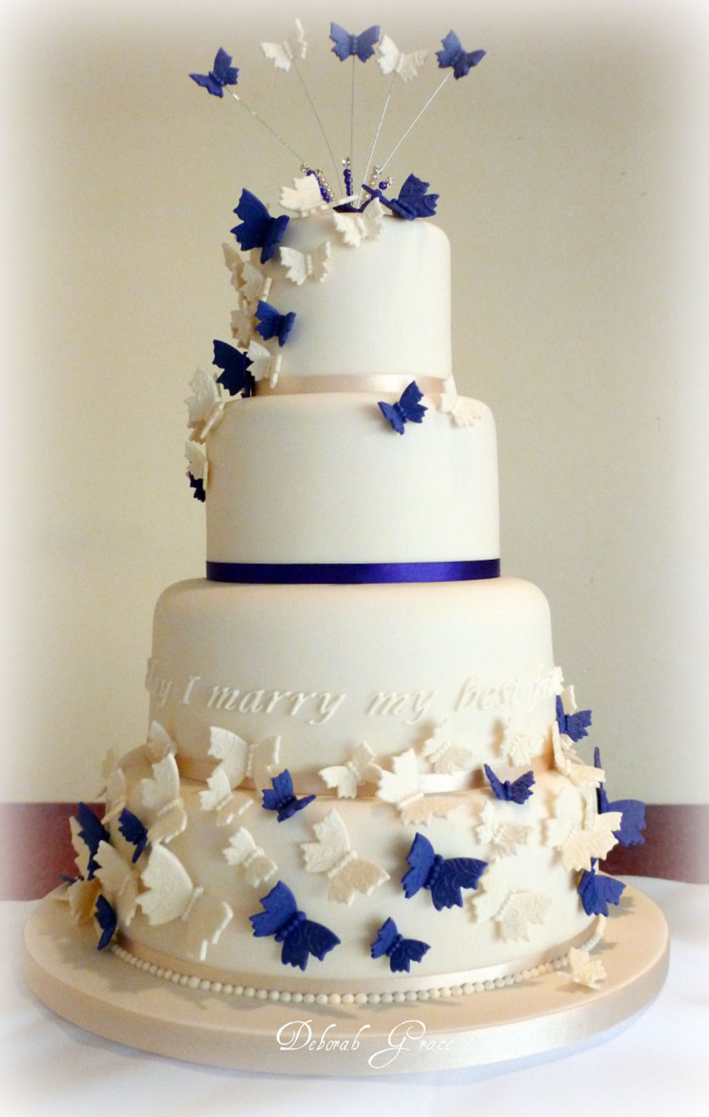 Cake Decorating Wedding Cakes : Butterfly Wedding Cakes Decoration Wedding Cake - Cake ...
