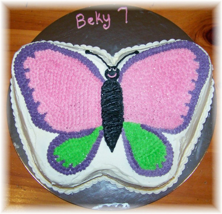 Butterfly Birthday Cake Recipe For Kids Picture in Birthday Cake