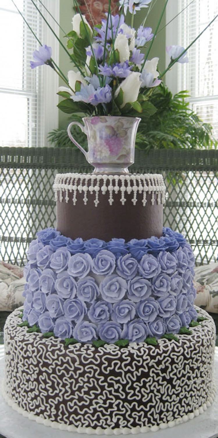 Canton Wedding Cake Design 3 Idea Picture in Wedding Cake