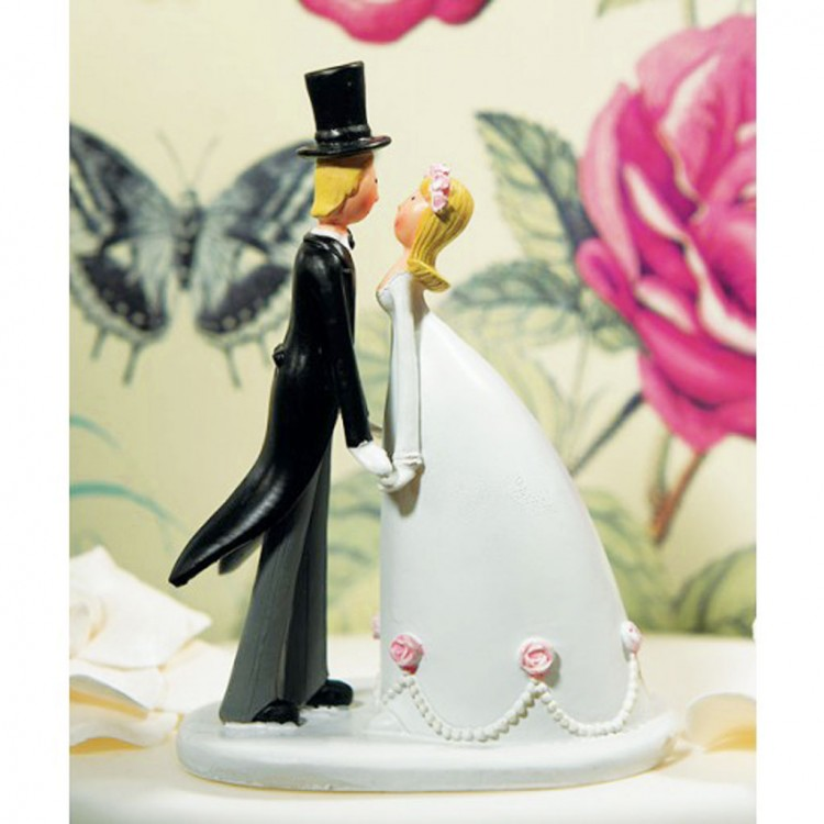 Cartoon Wedding Cake Topper Picture in Wedding Cake