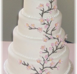 1024x1368px Cherry Blossom Wedding Cake Photo Picture in Wedding Cake