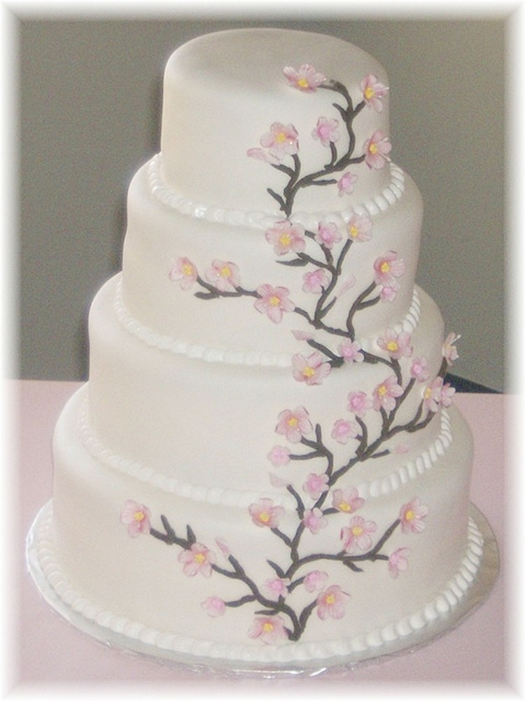 Cherry Blossom Wedding Cake Photo Picture in Wedding Cake