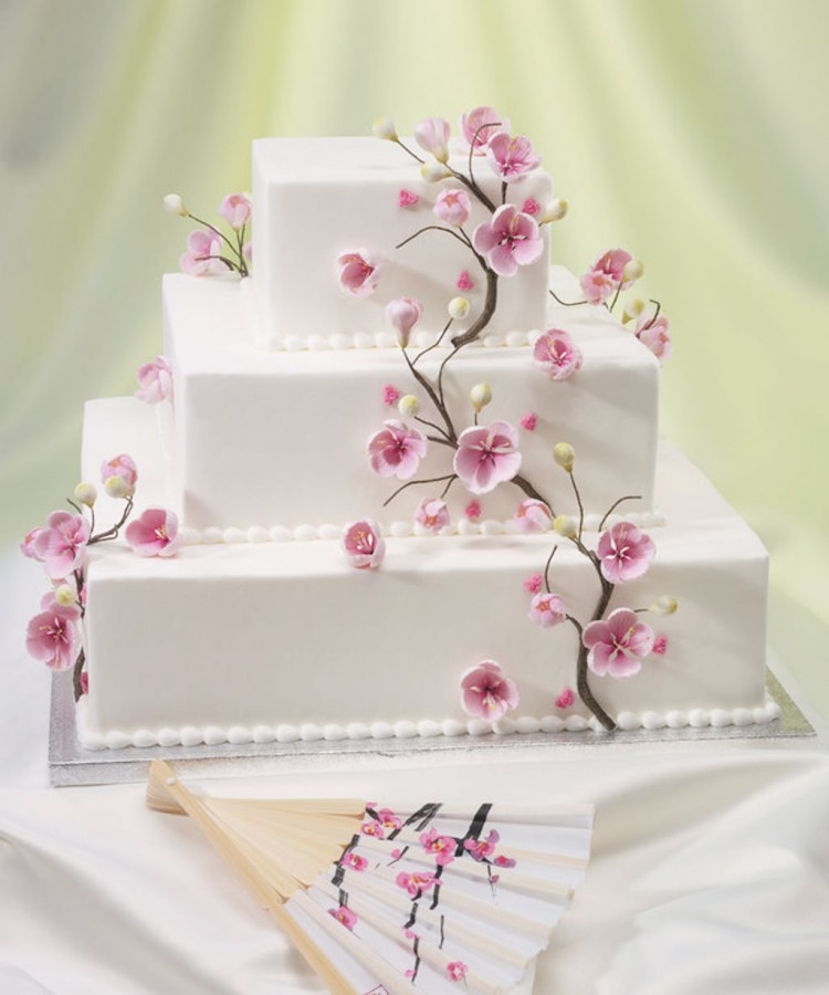 Cherry Blossom Wedding Cakes Ideas Picture in Wedding Cake