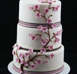 1024x1538px Cherry Blossom Wedding Cakes Theme Picture in Wedding Cake
