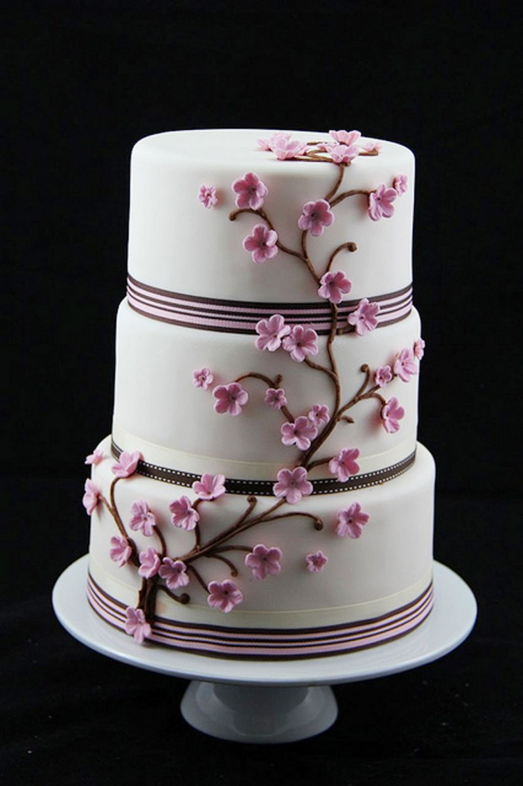 Cherry Blossom Wedding Cakes Theme Picture in Wedding Cake