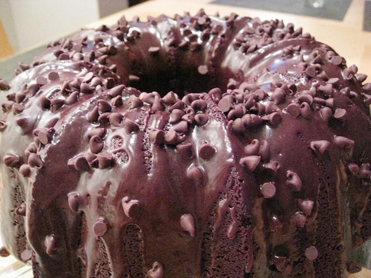 Chocolate Chip Sour Cream Bundt Cake Picture in Wedding Cake