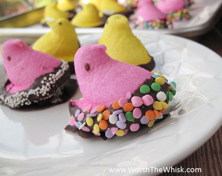 Chocolate Peeps Picture in Chocolate Cake