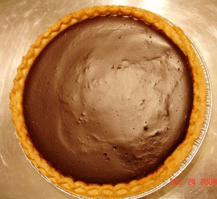 Chocolate Pudding Pie Picture in Chocolate Cake