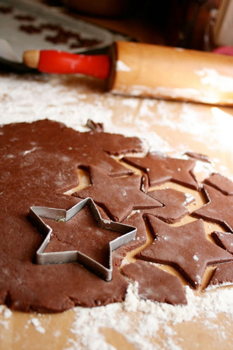 Chocolate Star Christmas Cookies Picture in Chocolate Cake