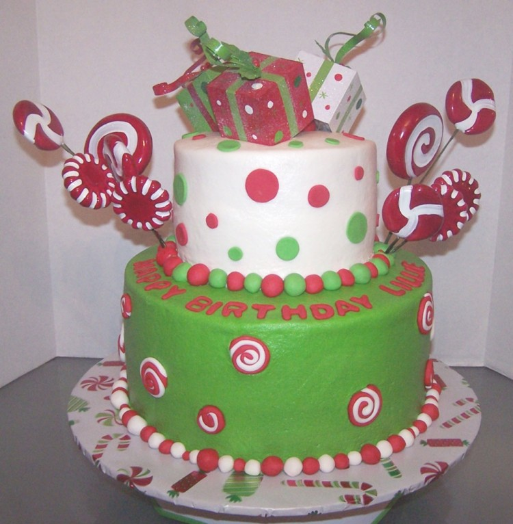 Christmas Birthday Cake Picture in Birthday Cake