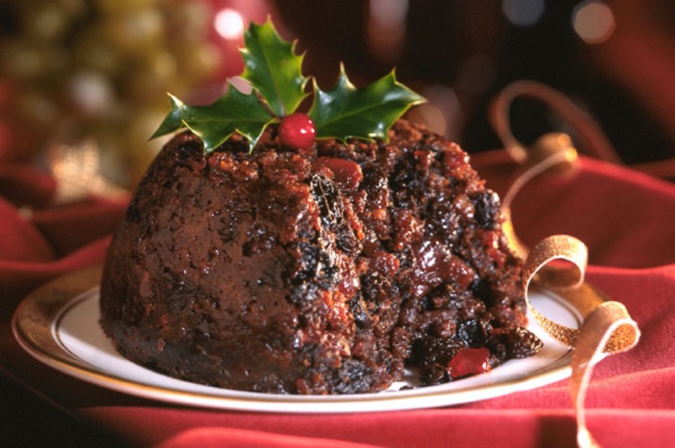 Christmas Chocolate Pudding Picture in Chocolate Cake