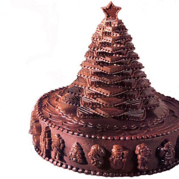 Christmas Tree Cakes With Chocolate Picture in Chocolate Cake