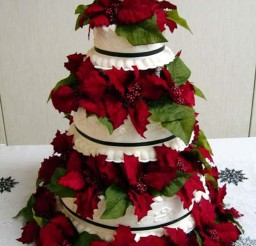 1024x1466px Christmas Wedding Cake Topper Ideas Picture in Wedding Cake