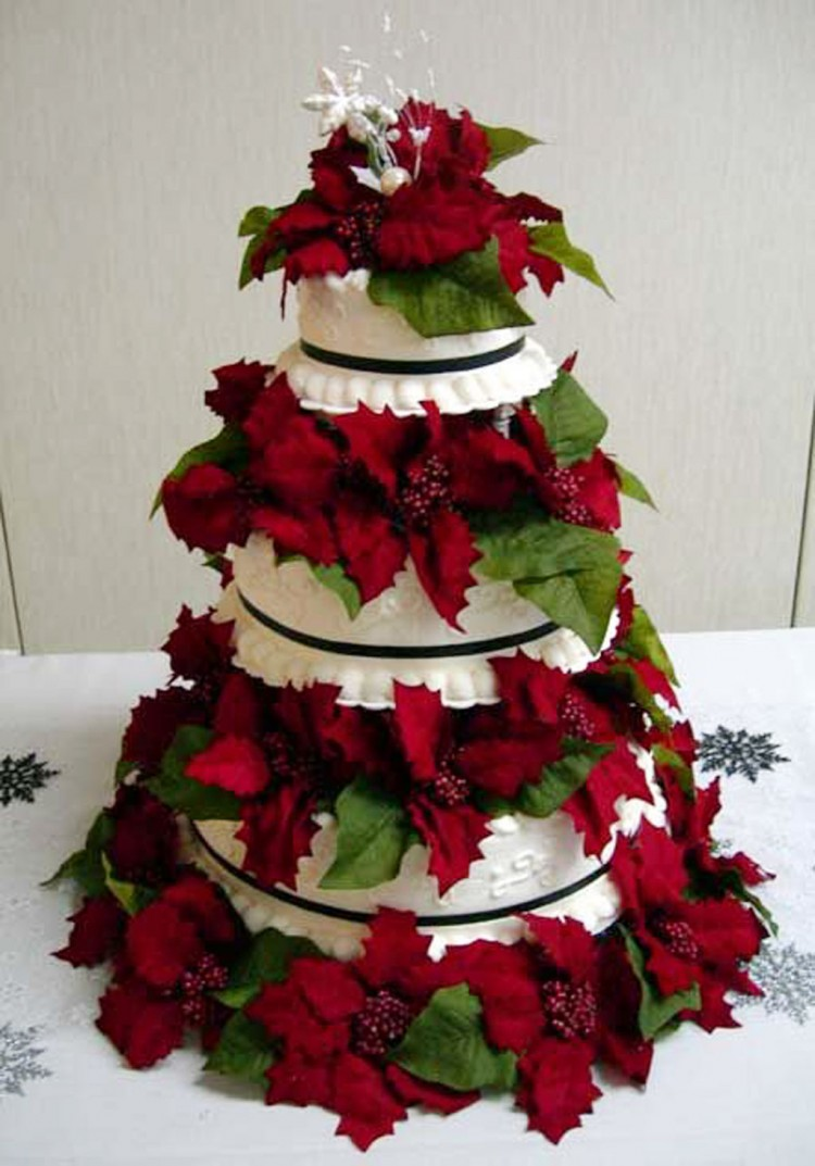 Christmas Wedding Cake Topper Ideas Picture in Wedding Cake