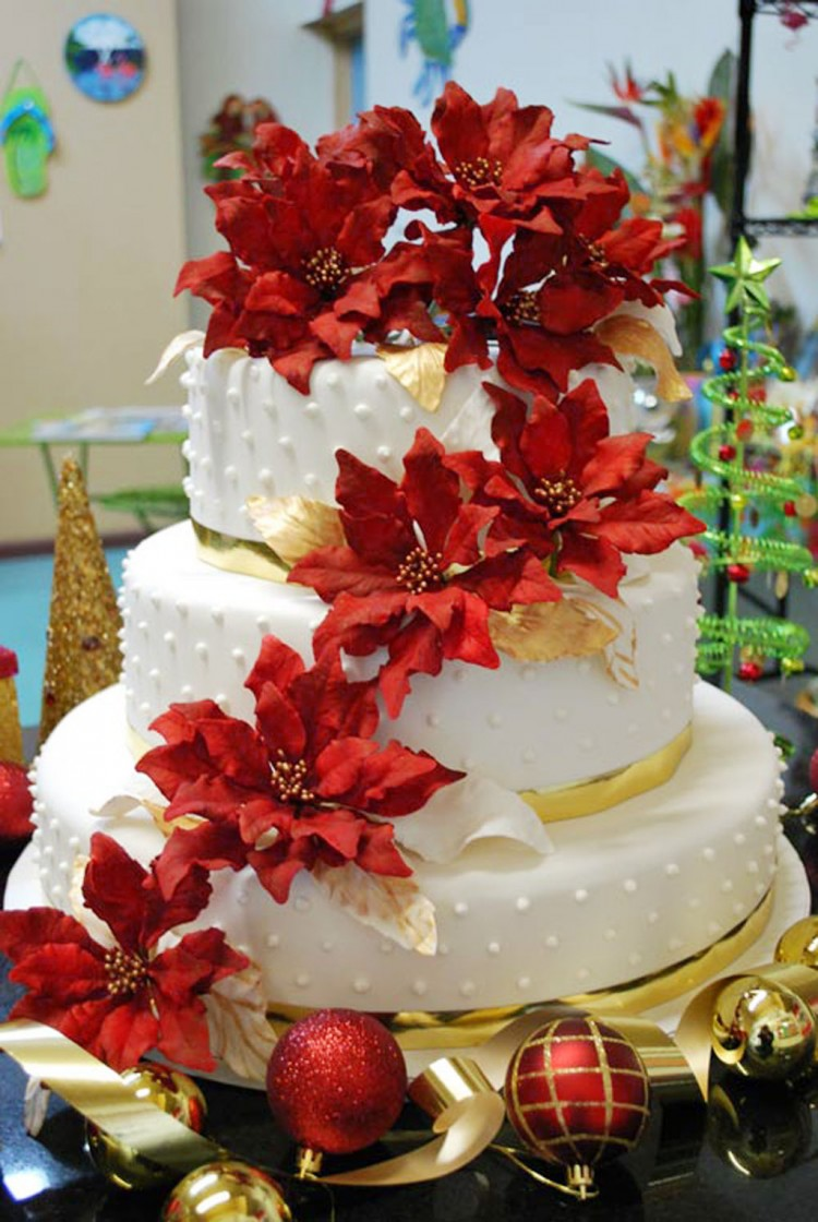 Christmas Wedding Cakes Pinterest Picture in Wedding Cake