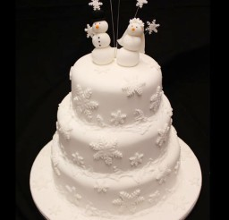 1024x1229px Christmas Wedding Cake Picture in Wedding Cake