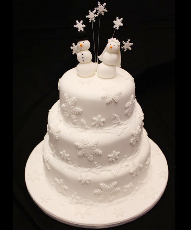 Christmas Wedding Cake Picture in Wedding Cake
