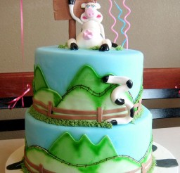 1024x1336px Cow Birthday Cakes Decoration Picture in Birthday Cake