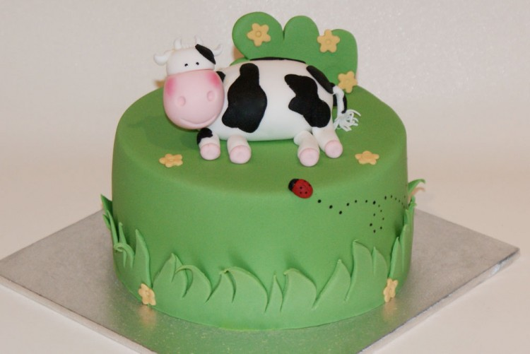 Cow Birthday Cakes Design Picture in Birthday Cake