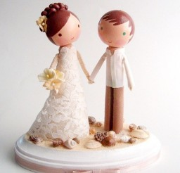 1024x1259px Custom Beach Wedding Cake Topper Picture in Wedding Cake