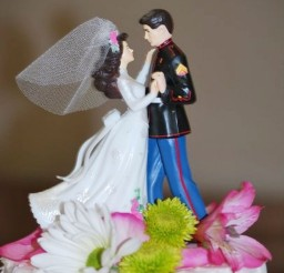1024x1525px Custom Marine Wedding Cake Toppers Picture in Wedding Cake