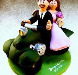 1024x1216px Cute ATV Wedding Cake Topper Picture in Wedding Cake