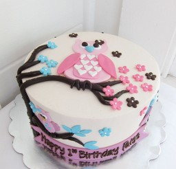 1024x1365px Cute Owl Birthday Cake Picture in Birthday Cake