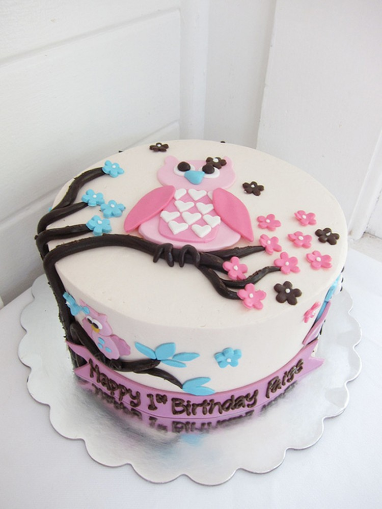 Cute Owl Birthday Cake Picture in Birthday Cake