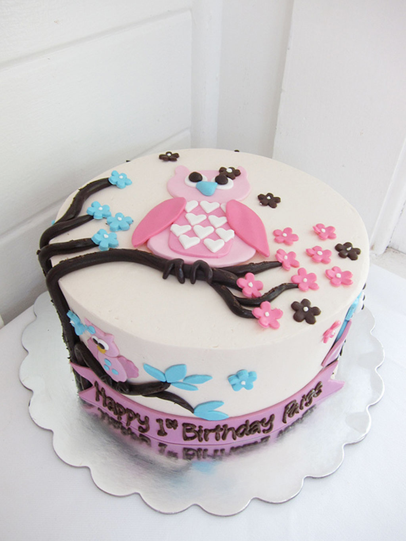Cute Owl Birthday Cake Birthday Cake Cake Ideas By Prayface