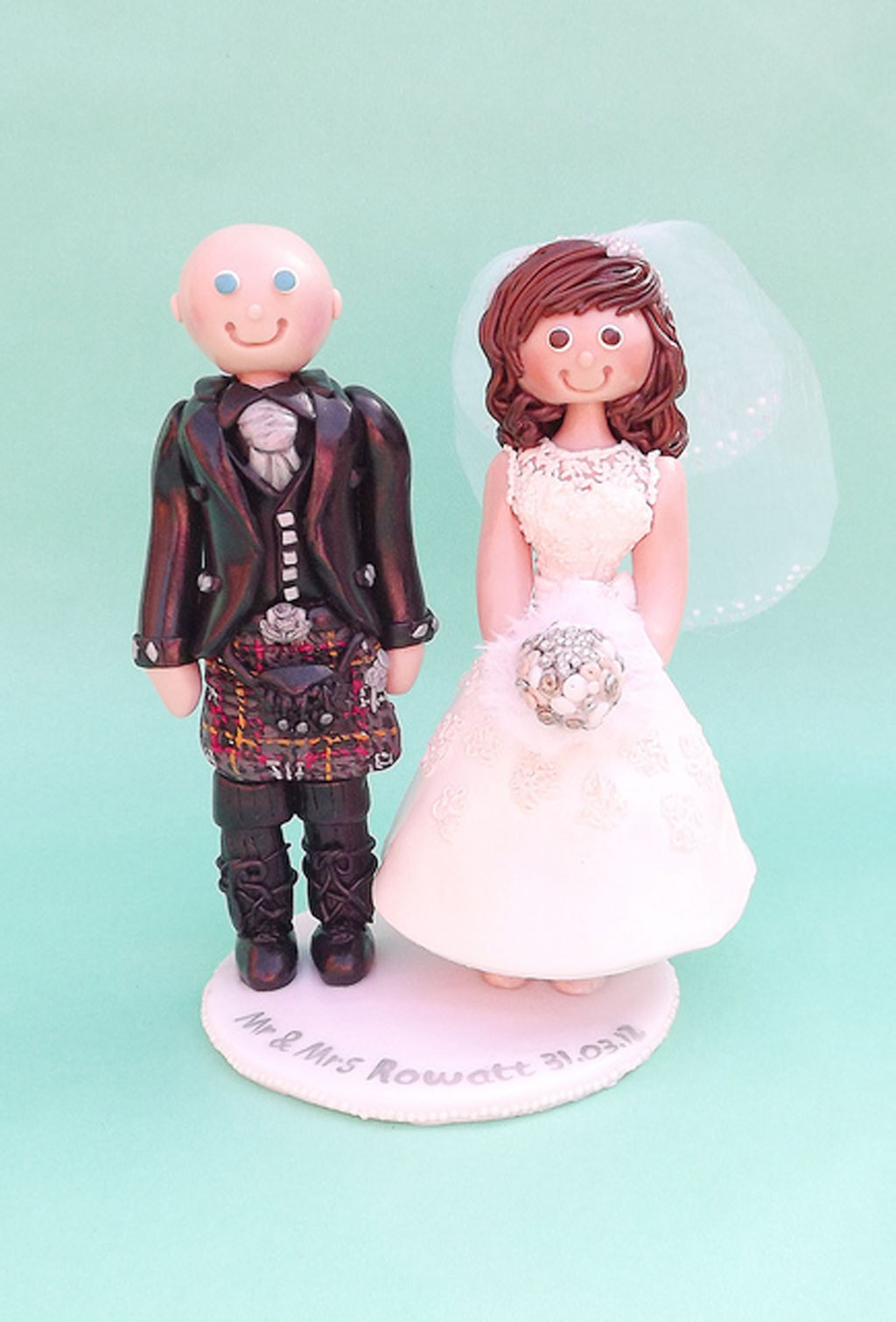cheeky scottish wedding cake toppers scottish wedding cake topper wedding cake cake 12550