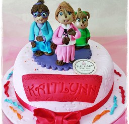 1024x1538px Cute Fondant Chipettes Birthday Cake Designs Picture in Birthday Cake