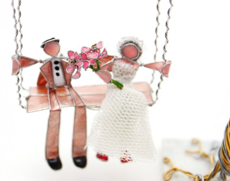 Cute Kayak Wedding Cake Toppers Picture in Wedding Cake