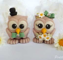 1024x735px Cute Owl Wedding Cake Toppers Picture in Wedding Cake