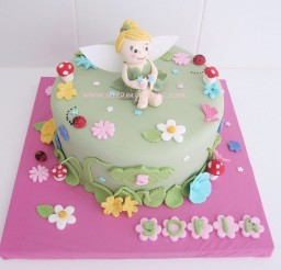 1024x985px Cute Tingkerbell Birthday Cake Picture in Birthday Cake
