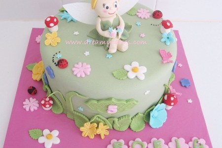 Cute Tingkerbell Birthday Cake Birthday Cake Cake Ideas by