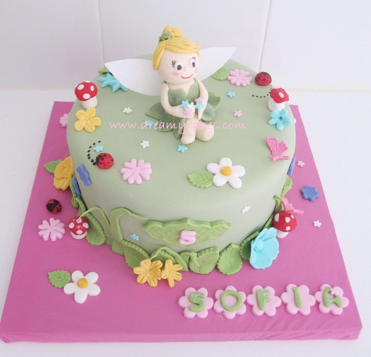 Cute Tingkerbell Birthday Cake Picture in Birthday Cake